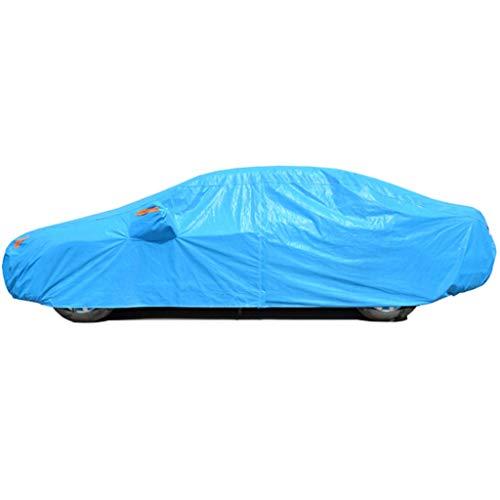 Couverture de voiture Convient pour BYD F3 / F6 / Surprenant / S6 Housse de protection solaire imperméable S7 / Song / Qin / L3 Film en aluminium bleu clair résistant à l'usure Vêtements pour voitures