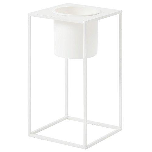 ルームアンドホーム 鉢カバー ホワイト 28×15×15cm スタンド フラワーベース 花器 M モノ 植木鉢 F型