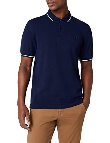 Fred Perry Herren Poloshirt, Blau (Azul), Medium
