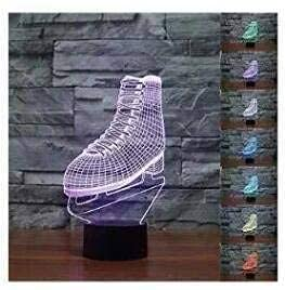 3D Skating Rollschuhe Led-Lichter 7 Farben Erstaunliche Optische Täuschung Skulptur Fernbedienungslichter Erzeugen Einzigartige Lichteffekte
