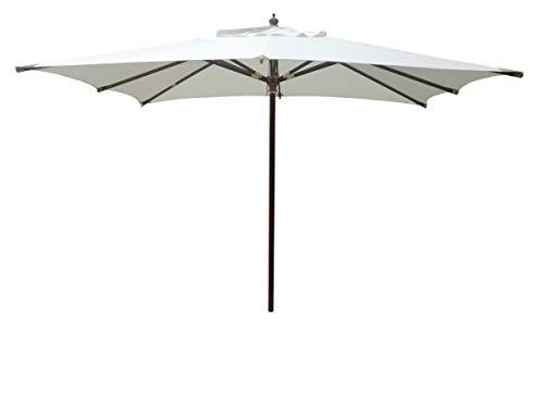 Gruppo Maruccia Ombrellone da Giardino con palo Centrale in Legno ombrellone 3 x 2 Metri ombrellone Professionale per attività Commerciali