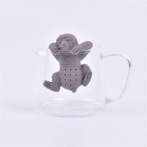 N\A Tee-Startseite Teesieb Filter teesieb für Tee Topf Cup benutzung Nette Menschen Form fahrzeuggrad silikon Tee Infuser kreative Sicherheit teebeutel Teesieb Spice Filter