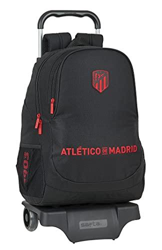 safta Mochila Escolar con Carro de Atlético de Madrid Corporativa, 330x150x430 mm