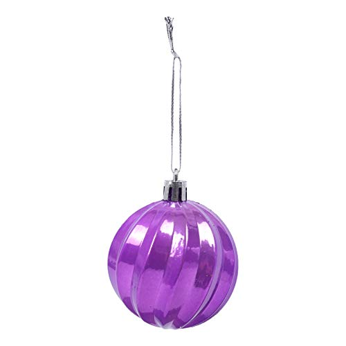Fineday 12PCS Christmas Ball Baubles Party Xmas Tree Decorations Hanging Ornament Decor, Home Decor,for Christmas Day (Purple)