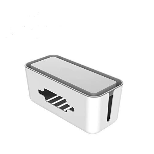 MAOXI Aufbewahrungsbox Telefonhalter Steckdosenleiste Box für Adapterkabel/Ladeleitung/USB-Netzwerk HUB-Kabel verwalten