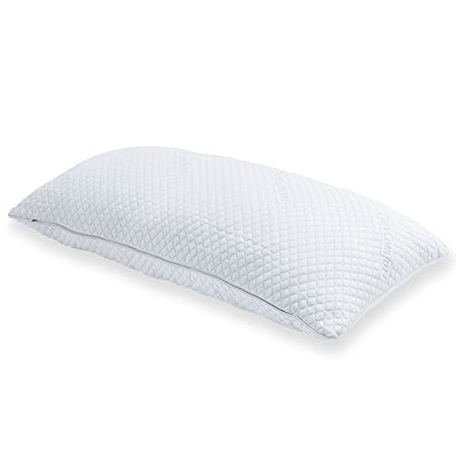 PureComfort PREMIUM ADJUSTABLE FILL Gel Infused Shredded Hypoallergenic CertiPUR Memory Foam Pillow with Proprietary washable removable cooling bamboo derived cover - 5 YEAR WARRANTY