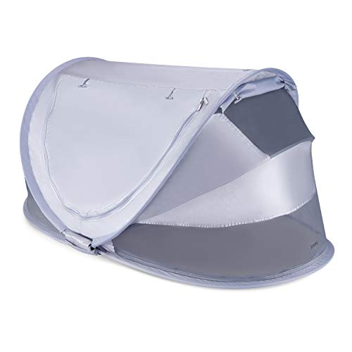 Joovy Gloo Infant Travel Bed, Portable Tent, Baby Tent, Large Size, Metallic Silver