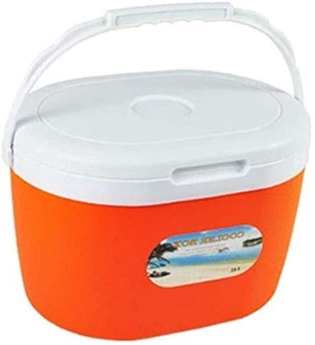 Hodamai - Nevera portátil multifunción para cocina, 6 l, 14 l, 28 l, refrigeración, aislado, plástico, naranja, 14L
