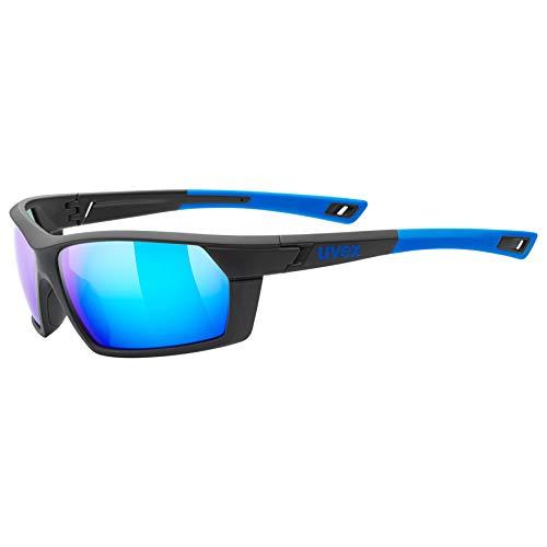 uvex Unisex– Erwachsene, sportstyle 225 Sportbrille, black blue/blue, one size