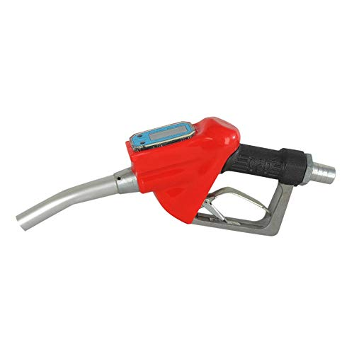 QiKun-Home Pistola de Combustible de medición electrónica Pistola Duradera Digital electrónica Pistola dosificadora de turbina de 1 Pulgada Pistola de Aceite Duradera de Gasolina Rojo + Negro