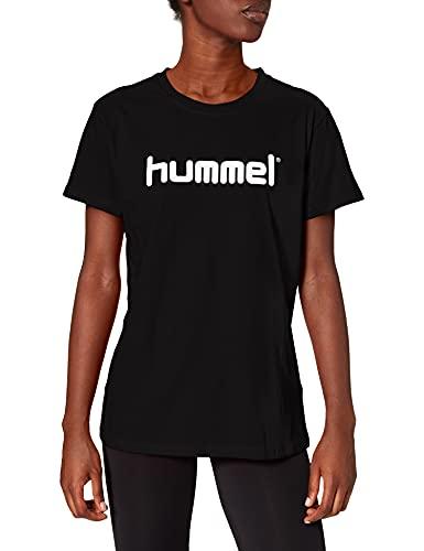 hummel Camiseta de algodón con Logotipo de Hmlgo para Mujer, Mujer, Camisetas,...