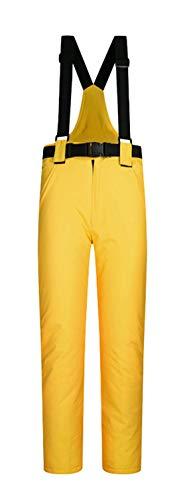 ELETOP Damen Schneehose Outdoor Wasserdicht Winddicht Skihose Warm Isolierte Snowboardhose 10 Farben - Gelb - Mittel