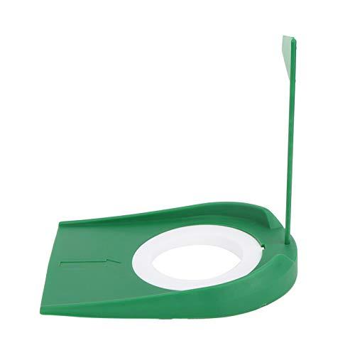 SALUTUYA Plato de Putter de Entrenamiento de Golf Robusto con Taza de Golf de plástico de 5.12x7.09 Pulgadas, para Oficina en casa