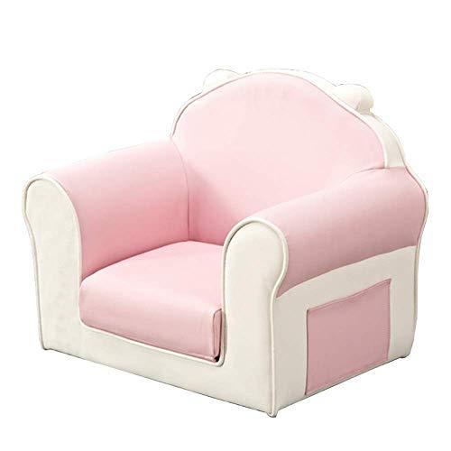 N&O Renovierung Hausmöbel Kinder Polsterstuhl Sessel Wohnzimmermöbel Kinder Sofas Armlehnstuhl (Einzelsitz) (Color : Pink Size : 49x41x56cm)