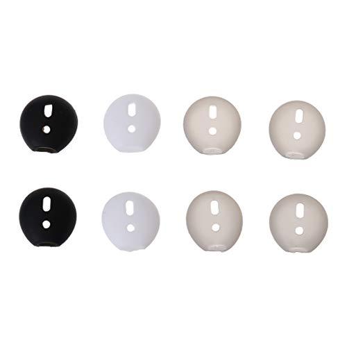YOURPAI Tapones para auriculares, 4 pares de almohadillas de silicona antideslizante para auriculares, color blanco