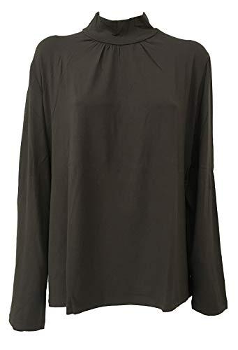 LUISA VIOLA t-Shirt Donna Moro, Collo a Lupetto, 96% Viscosa 4% Elastan (53 - IT 62)