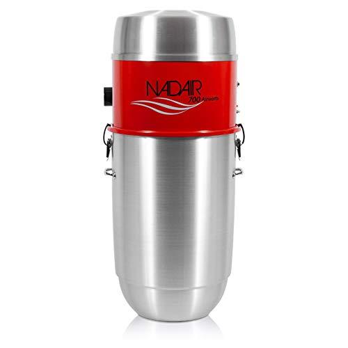 Nadair Aspirateur Centralisé 700 Airwatts 32 Litres - Aspiration Centralisée Jusqu a 450 M2 - Neuf, Existant, Rénovation - Garantie 25 Ans