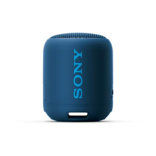 Sony SRS-XB12 Mini Bluetooth Speaker Loud Extra Bass Portable Wireless Speaker with Bluetooth -Loud Audio for Phone Calls- Small Waterproof and Dustproof Travel Music Speakers Blue SRS-XB12/L