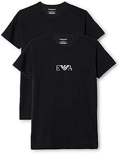 Emporio Armani Men'S Knit Brief B, Camiseta Para Hombre, Negro (Black 320), Small (Tamaño del fabricante:S)