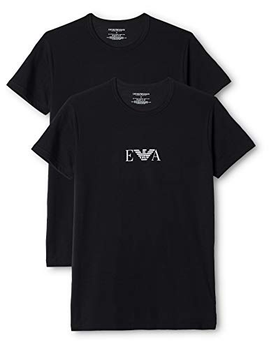 Emporio Armani Men'S Knit Brief B, Camiseta Para Hombre, Neg