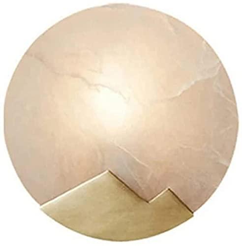 Aplique de pared, metal, mármol, creativo, lámpara de pared colgante, forma redonda, montaje empotrado, E12 / iluminación de luz de pared, accesorio de pared interior para sala de estar, dormitorio