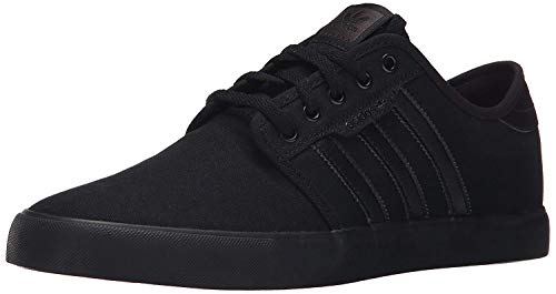 adidas Originals Men's Seeley Running Shoe, Black/Black/Black, 10.5 M US