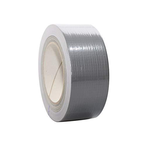 Premium Gewebeband | Panzertape | Panzerband | Klebeband | Gaffa Tape | 50mm x 50m, weiß, schwarz, silber, Farbe:silber