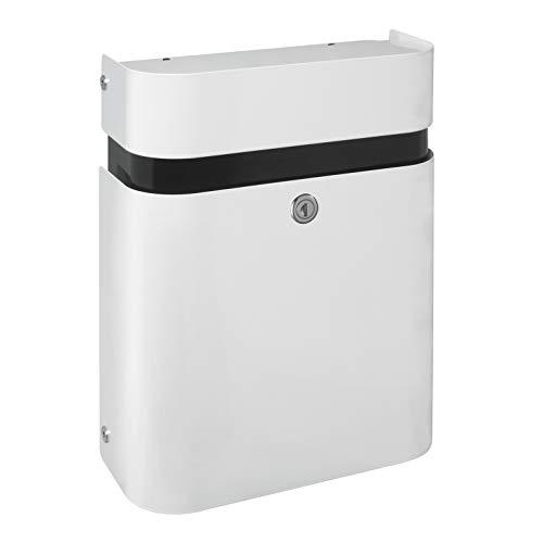 Renz 640000M MEFA brievenbus JUDO 640 (kleur verkeerswit, inwerpklep boven, uitnemen voor, grootte: 490x350x155 mm), wit
