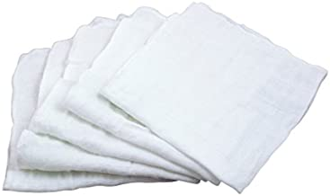 green sprouts Reusable Muslin Cloths Made from Organic Cotton (5 Pack) |Reusable Baby Wipes | Without Formaldehyde or AZO Dyes | Multi-Purpose, Pre-Washed, Machine Washable
