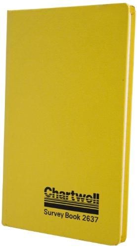 Chartwell - Diario de mina, 19,2 x 12 cm, 160 páginas, diseño con texto'Chartwell, Survey Book 2637', color amarillo y negro