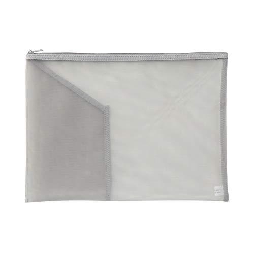 無印良品 ナイロンメッシュ書類ケース・ポケット付き A4サイズ用・グレー 82263718