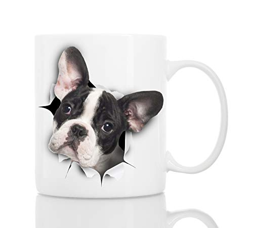French Bulldog Coffee Mug - Ceramic Funny Coffee Mug - Perfect French Bulldog Gift - Cute Novelty Coffee Mug Present - Great Birthday or Christmas Surprise for Friend or Coworker, Men and Women (11oz)