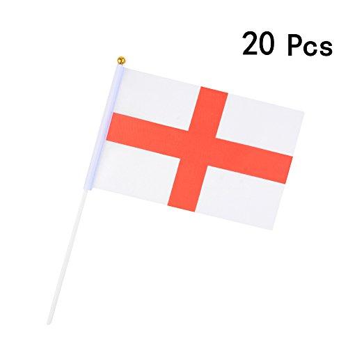 Georgie Porgy Calcio Bandiere Nazionali per Le Parti Giochi Olimpici (20 PCS Big Flag England)