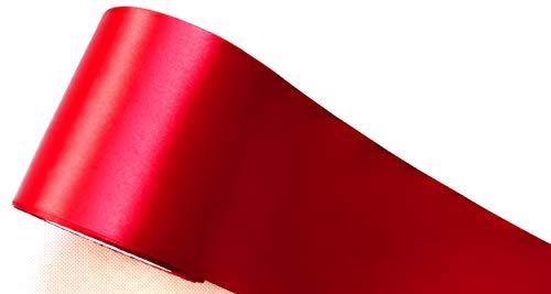 CaPiSo® Nastro Di Raso 100 Mm Nastro 10 Cm Larghezza Regali Runner Da Tavola Decorazione Natale Matrimonio, Argento, 10M