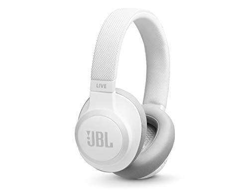 JBL LIVE 650BTNC kabellose Over-Ear Kopfhörer in Weiß– Bluetooth Ohrhörer mit Noise Cancelling, langer Akkulaufzeit und Alexa-Integration – Unterwegs Musik hören und telefonieren