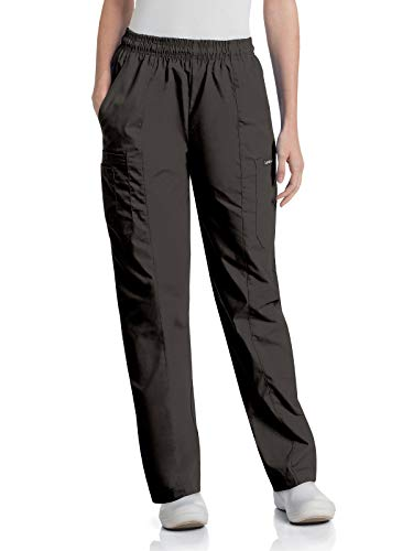 cheap Landau Essentials 8501 Elastic Waist Classic Cargo Pants Black L Petit