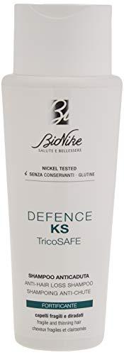 Bionike Defence KS Tricosafe Shampoo Anticaduta per Capelli Fragili e Diradati, Deterge con Delicatezza e Rinforza il Capello Ristabilendo l Equilibrio del Cuoio Capelluto - 200 ml