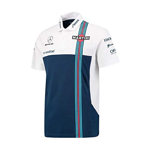 Williams Martini Racing Men's Team Pique Polo Shirt (XS)