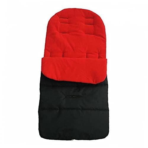 RRunzfon Cochecito para niños Cochecito del Amortiguador de Asiento Colchón Pushcar el Accesorio Rojo Negro, Conveniente para la mayoría de sillas de Paseo