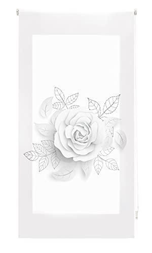 Blindecor Estor Enrollable Digital translúcido Estampado, Rose, 90x180 cm ( Ancho x Alto)
