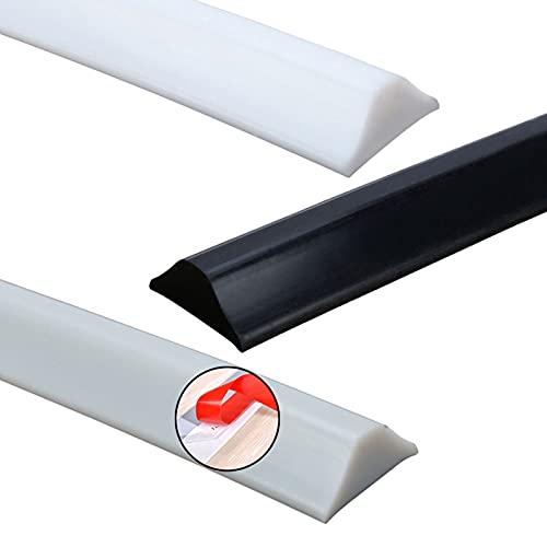 ZHXQ Tira Impermeable autoadhesiva,Silicona Autoadhesivo Barrera de Ducha Sistema de retención de retenedor de Sello de Puerta Silicona Agua Barreras Suelo Partición Tiras,50-300CM