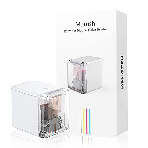 Stampante portatile Mini stampante portatile a colori portatile Stampante wireless WiFi con cartuccia d'inchiostro rimovibile per tutti i materiali, perfetta per testo personalizzato, codice QR, firme