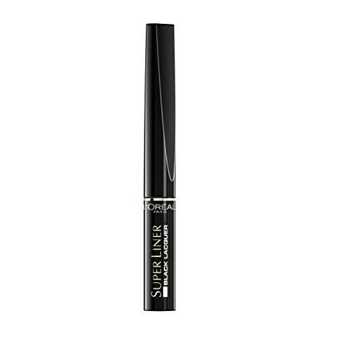 L Oréal Paris, Eyeliner Waterproof  Super Liner Black Lacquer , Laccato nero intenso, 2ml