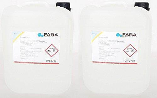 Essigsäure 60% Essigessenz C2H4O2 Reiniger Entkalker 2 x 10 Liter