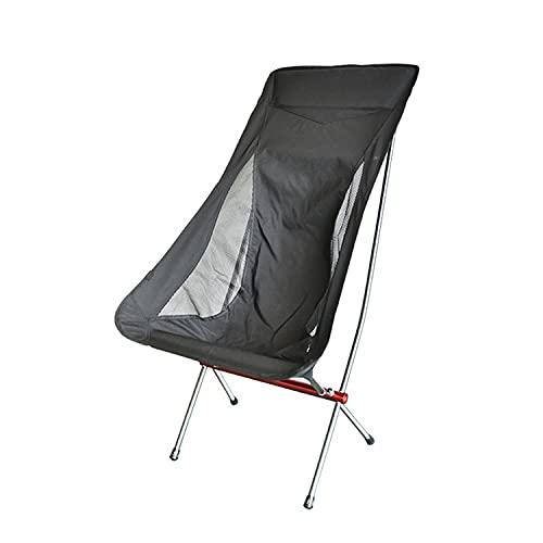 TrendClub100® Utomhus ultralätt aluminium camping stol strandstol vikbar fällstol (svart-röd)