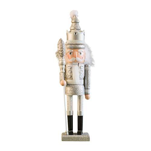 Amosfun Cascanueces de Navidad, decoración, soldado, rey, figuras de juguete de Navidad, chimenea, estantería, mesa, mesa, centro de mesa, fiesta, entrega, regalos
