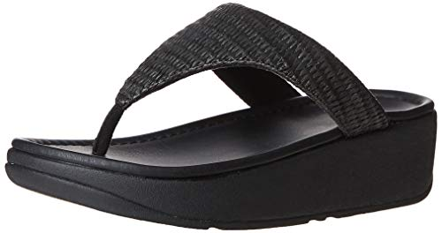 FitFlop Women's Imogen Basket Weave Toe-Thongs, Stone