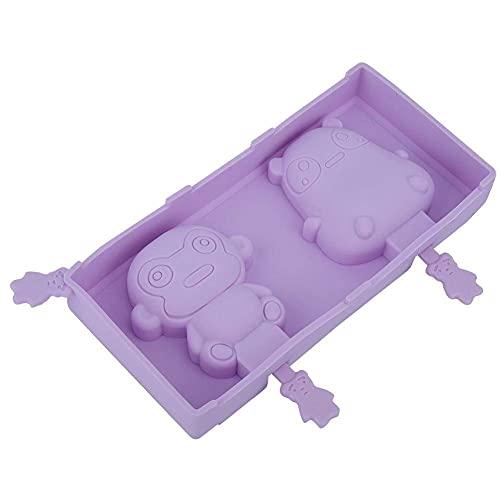 AUNMAS Silicone Popsicle Molds, Cute Monkey Pattern Lovely Ice Pop Mold Frozen Lolly Baking Maker Mould Popsicle Sticks Mold Ice Cream Bar Mold Set, Purple(4#)