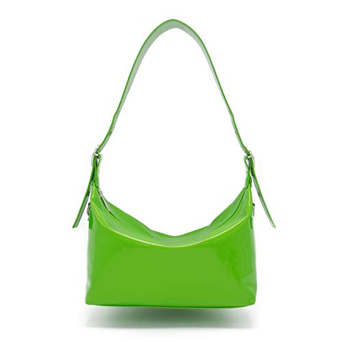 Miuco Crossbody Shoulder Bag For Women Waterproof Tote Patent Leather Purses and Handbags Green