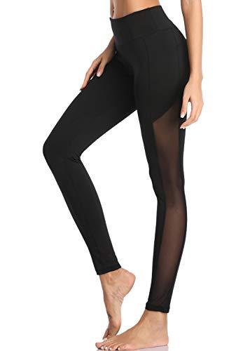 Joweechy Damen Yoga Hosen High Waist Sport Mesh Hosen Athletic Gym Fitness Taille Laufen High Elastic Workout Leggings Strumpfhosen mit Taschen